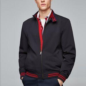 Zara men basic jacket with contrasting details